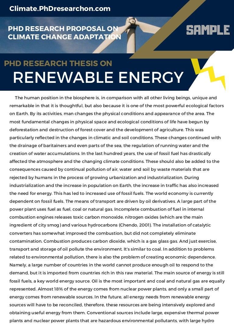 Phd thesis on renewable energy