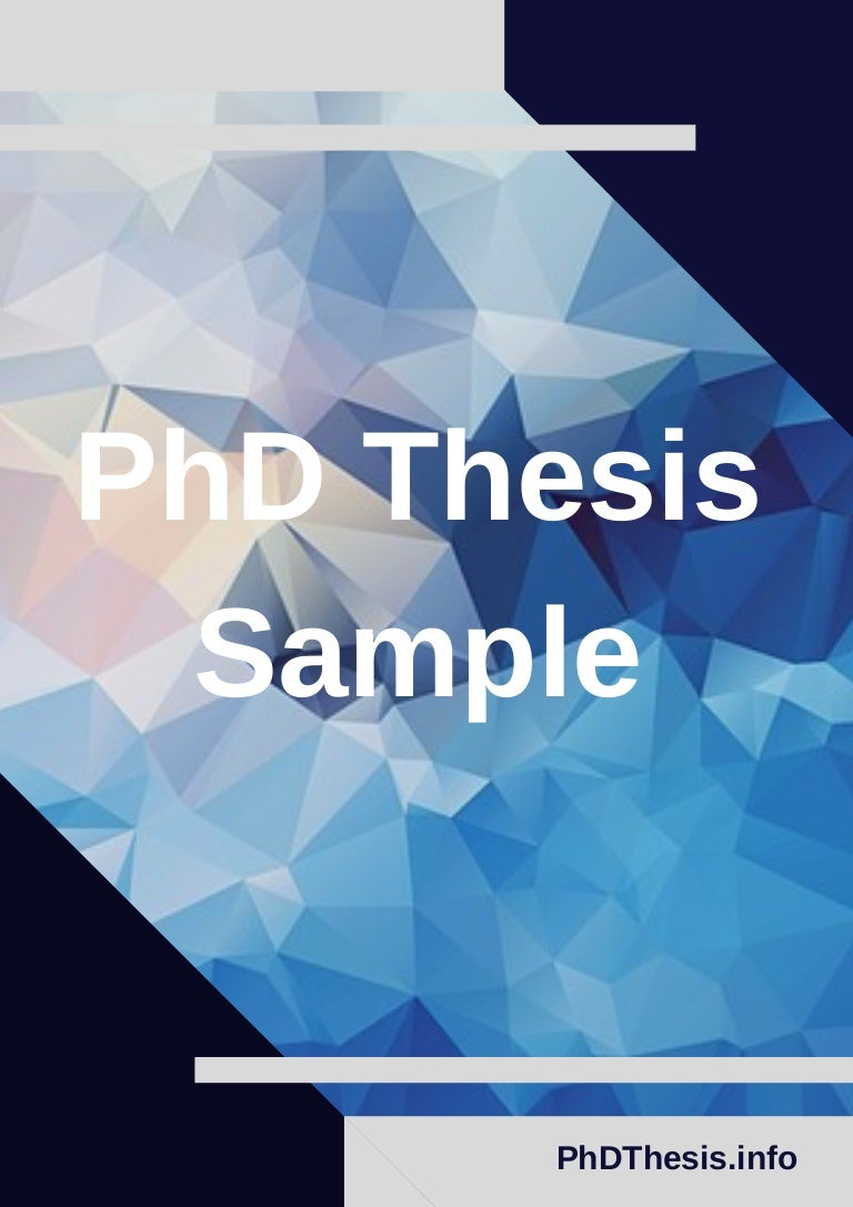 Examples of doctorate thesis example of review of related literature thesis