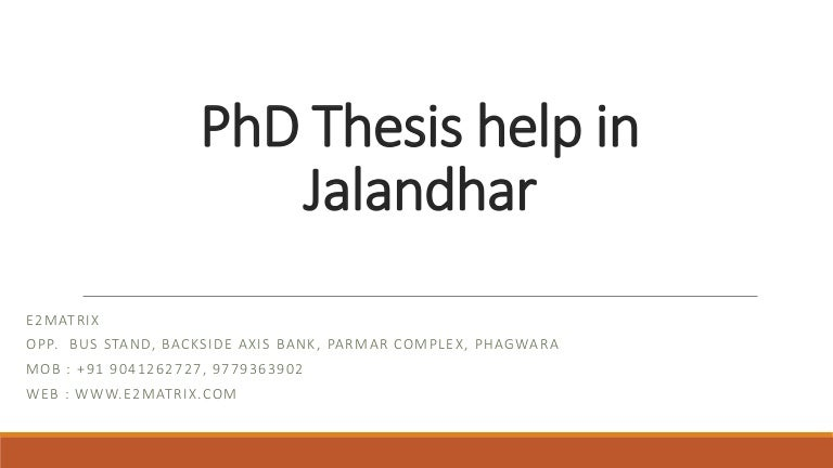 Phd database thesis