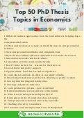 Economic phd thesis