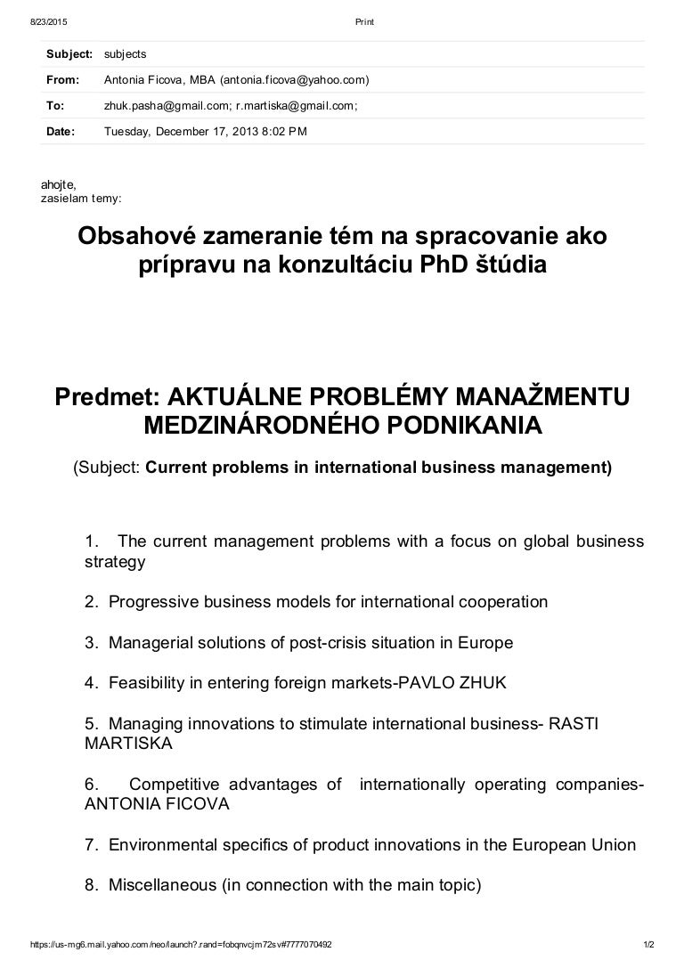 suggested topics for phd in management