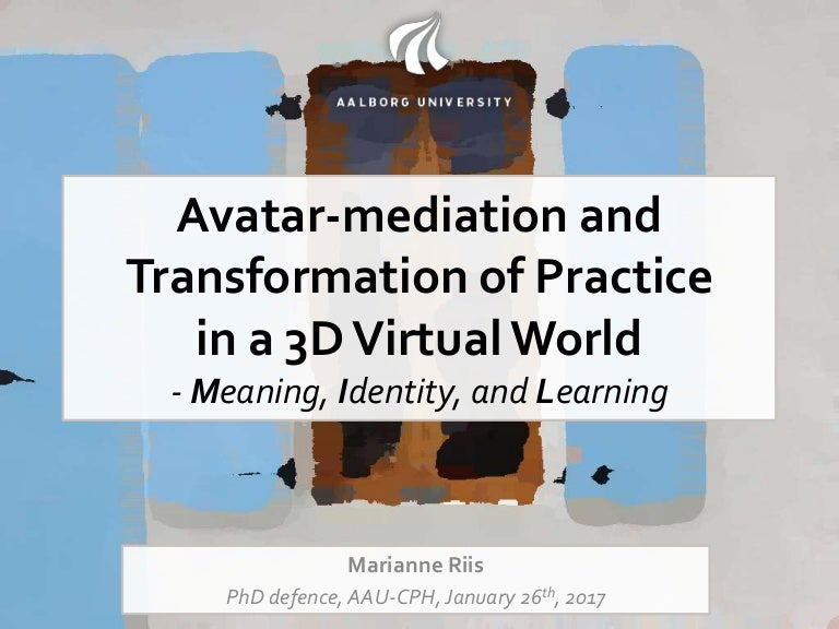 Avatar-mediation and transformation of practice in a 3D