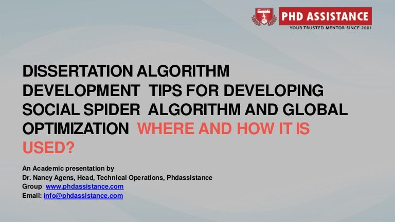 Phd thesis algorithms