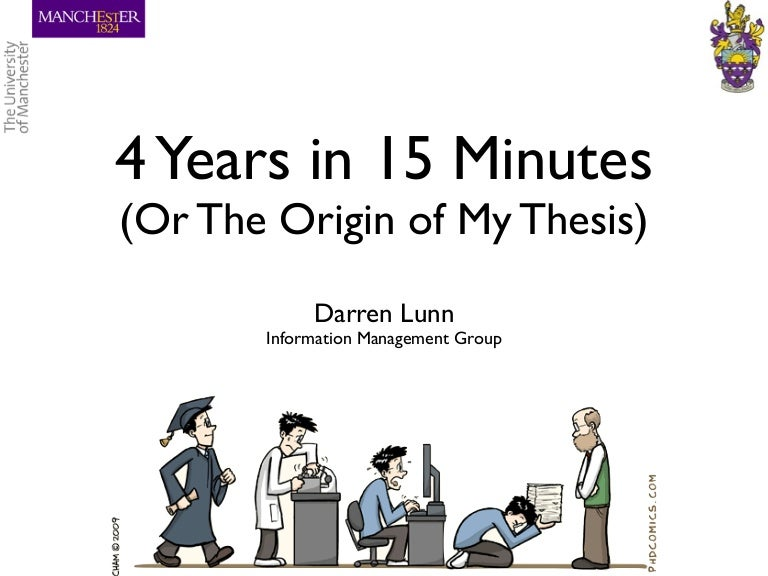 4 years in 15 minutes or the origin of my thesis