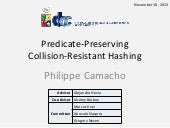 Predicate-Preserving  Collision-Resistant Hashing