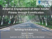 PhD Thesis - Adaptive Engagement of older adults' fitness through gamification