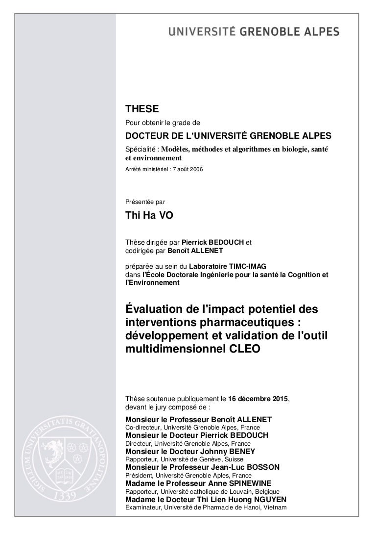 Phd thesis evaluation