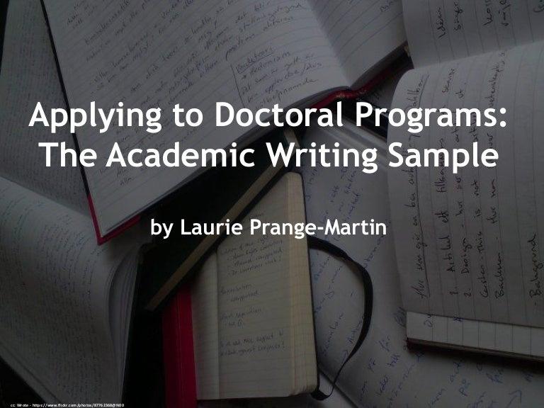 Essay for phd program