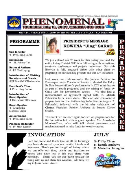 thursday july 09 2009