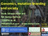 Genomics, mutation breeding and society - IAEA Coffee & Banana meeting - Schwarzacher Heslop-Harrison