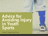 Advice for Avoiding Injury in Youth Sports