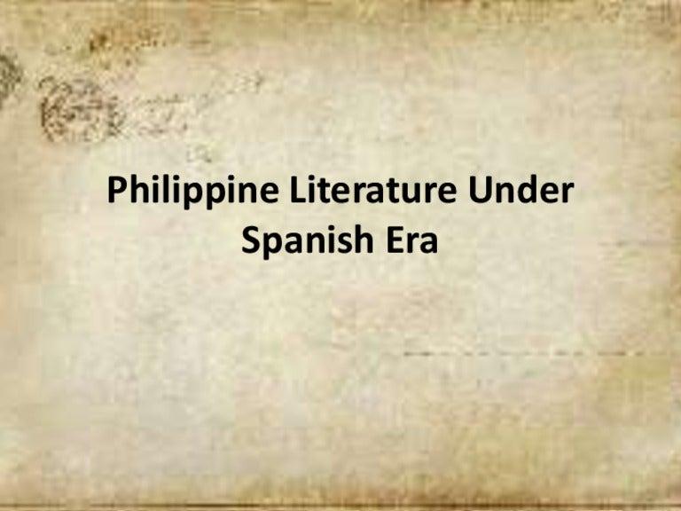 Philippine literature during spanish era