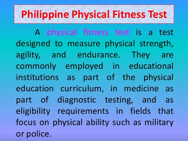 Philippine Physical Fitness Test  What Is Thesis In Essay also Research Paper Essay  What Is A Synthesis Essay