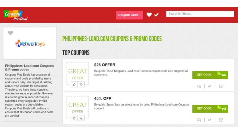 Philippines Load Com Coupons 70 Off
