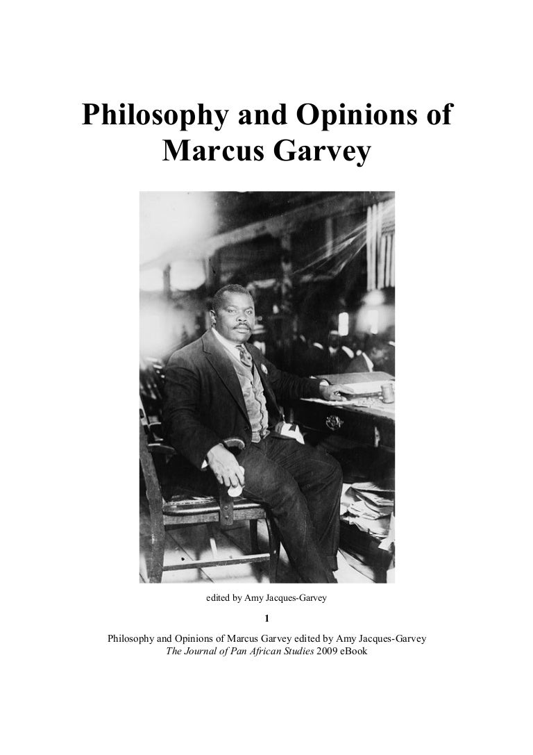 philosophy and opinions of the honorable marcus garvey edited by amy