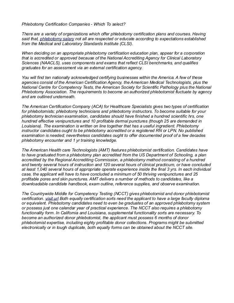 Free Resume Format National Phlebotomy Certification Exam Resume