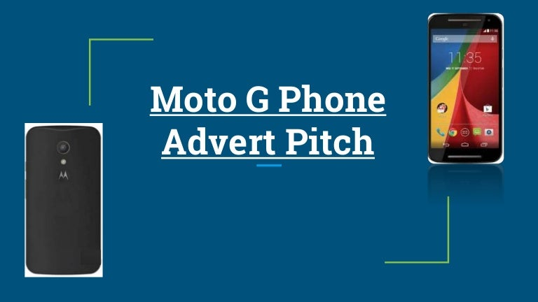 Phone chase advert pitch