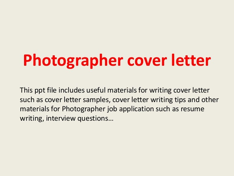 photographer cover letter for salon stylist cover photographercoverletter 140223204424 phpapp01 thumbnail 4 jpg cb 1393188292 - Cover Letter For Photography