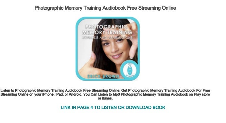 Photographic Memory Training Audiobook Free Streaming Online