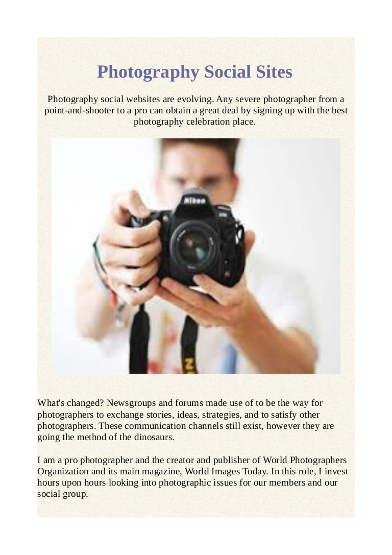 Photography social sites
