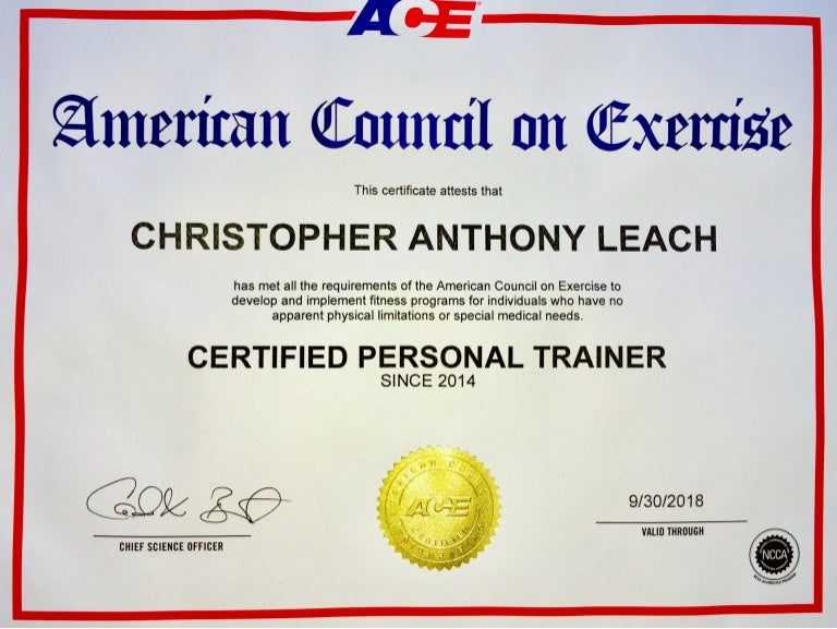 American Council On Exercise Personal Training Certification