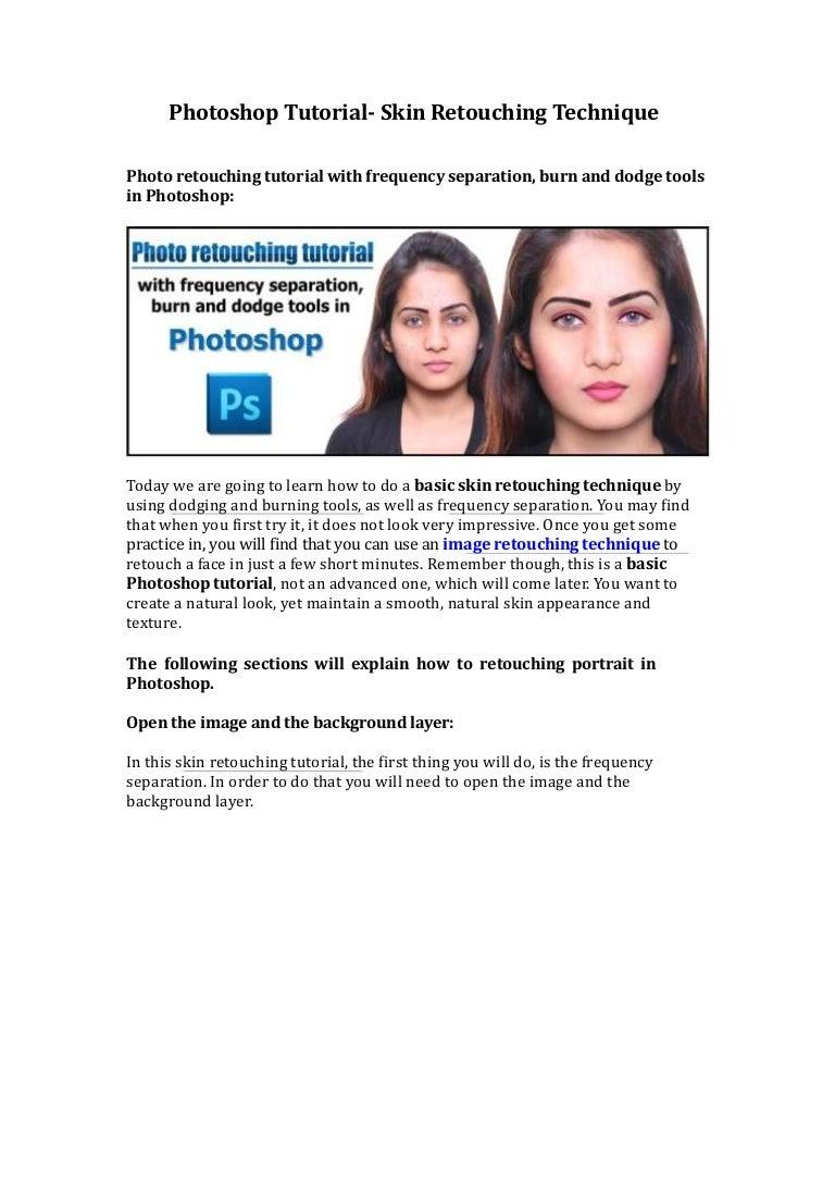 Photoshop tutorial skin retouching technique baditri Image collections