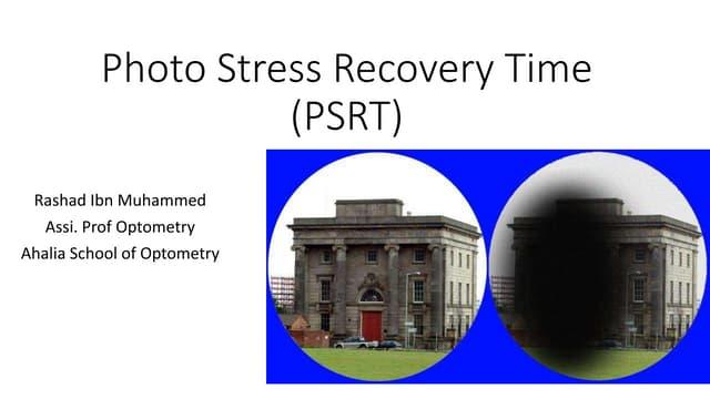 Photo stress recovery time (psrt)