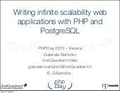 Writing infinite scalability web applications with PHP and PostgreSQL