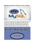 Php courses in kolkata for career