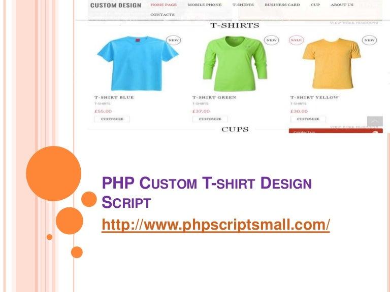Php Custom T Shirt Design Script T Shirt Design Software