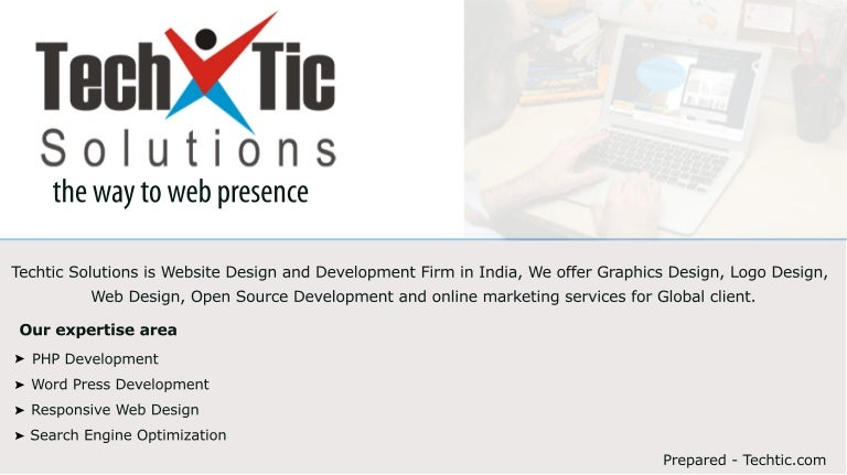 Web Design Development Company India Techtic Solutions