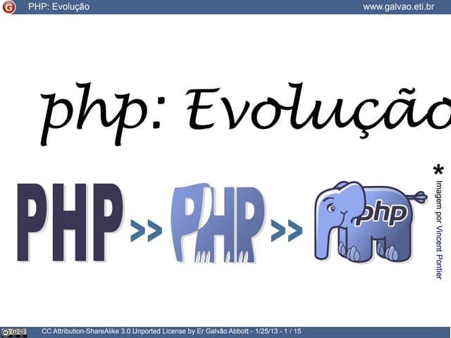 PHP: Evolução