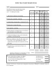 PHQ9 Depression Questionnaire