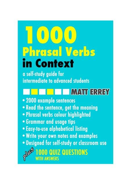 Phrasal verbs in_context