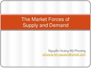 phuong hm nguyen the market forces of supply and demand