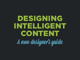 PHX Startup Week - Designing Intelligent Content for Entrepreneurs