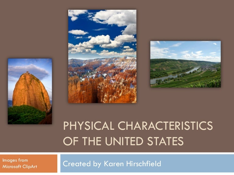 Physical Characteristics Of The United States Power Point - Physical features in the united states