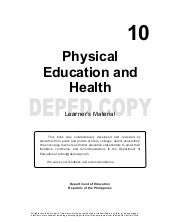 Grade 10 Physical Education - Learning Material {Unit 1:Active Recreation (Sports)}