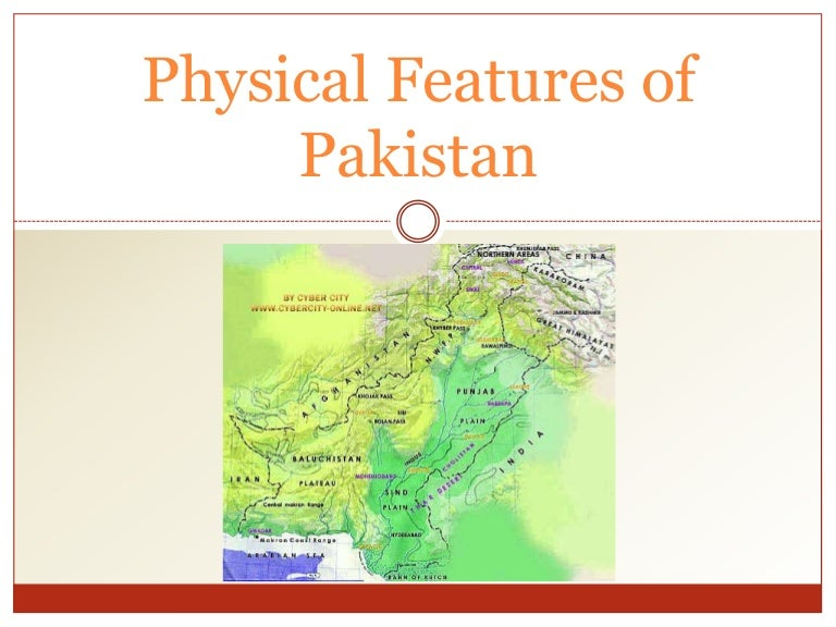 Physical features of pakistan