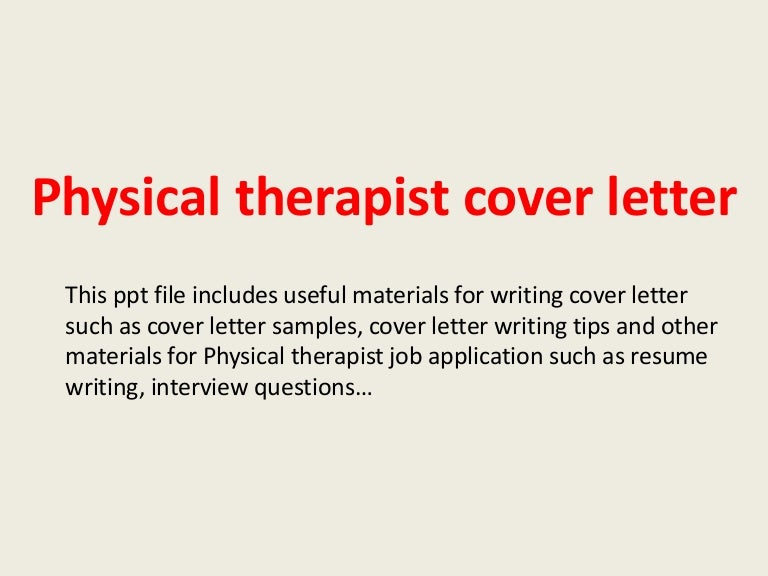 Physical Therapy Letter Of Recommendation Examples