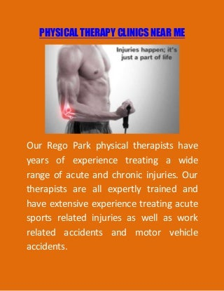 Physical therapy locations near me