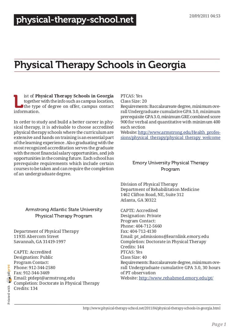 Georgia physical therapy - Georgia Physical Therapy 26