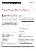 Physical therapy schools in wisconsin