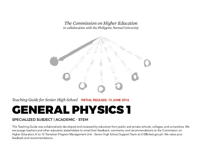 General physics 1 teaching guide fandeluxe Choice Image