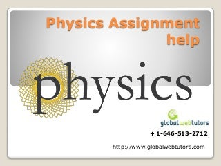 Physics assignment