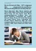 Physics Homework Help - 24/7 Assignment Help - assignmentsweb.com/Physics-Homework-Help/Homework-Help-Physics/