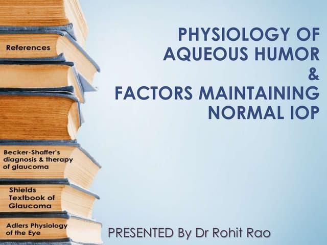 Physiology of aqueous humor