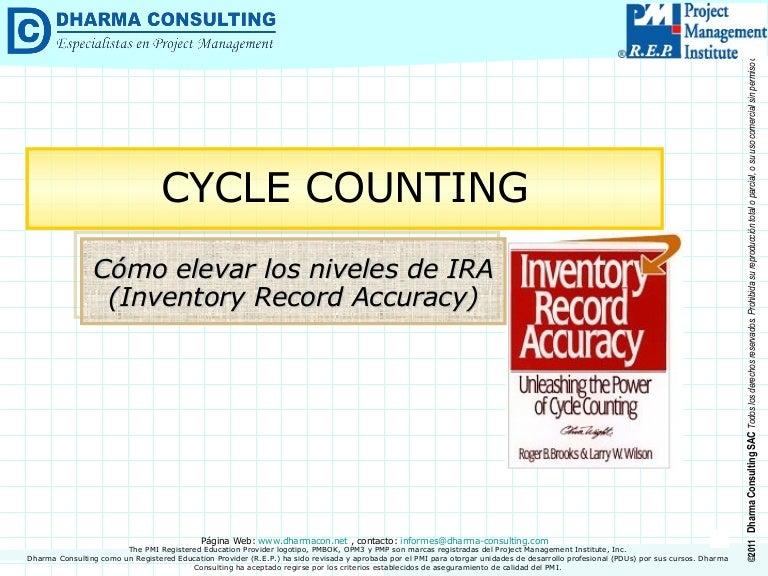 Cycle Counting > Cómo elevar los niveles de IRA