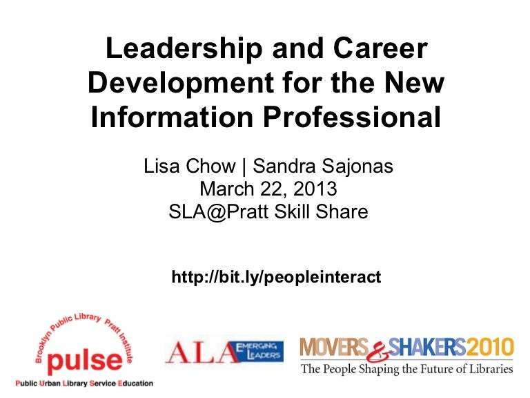 SLA@Pratt Skill Share: Leadership and Career Development for the New …