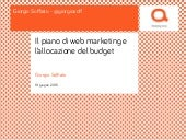 Il piano di web marketing e l'allocazione del budget digital